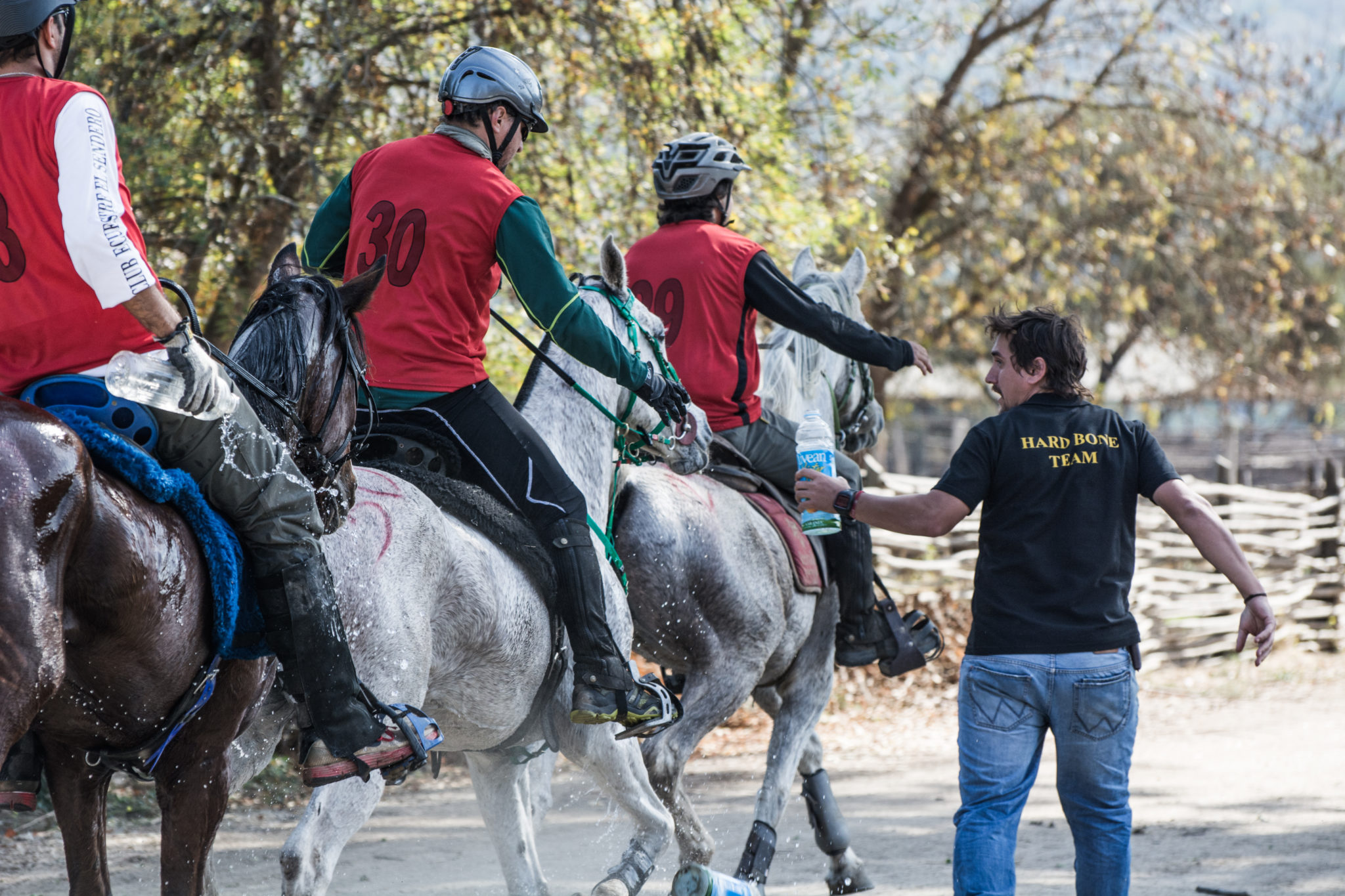Lagunillas – Matetic, Chile. Riders at a water point
