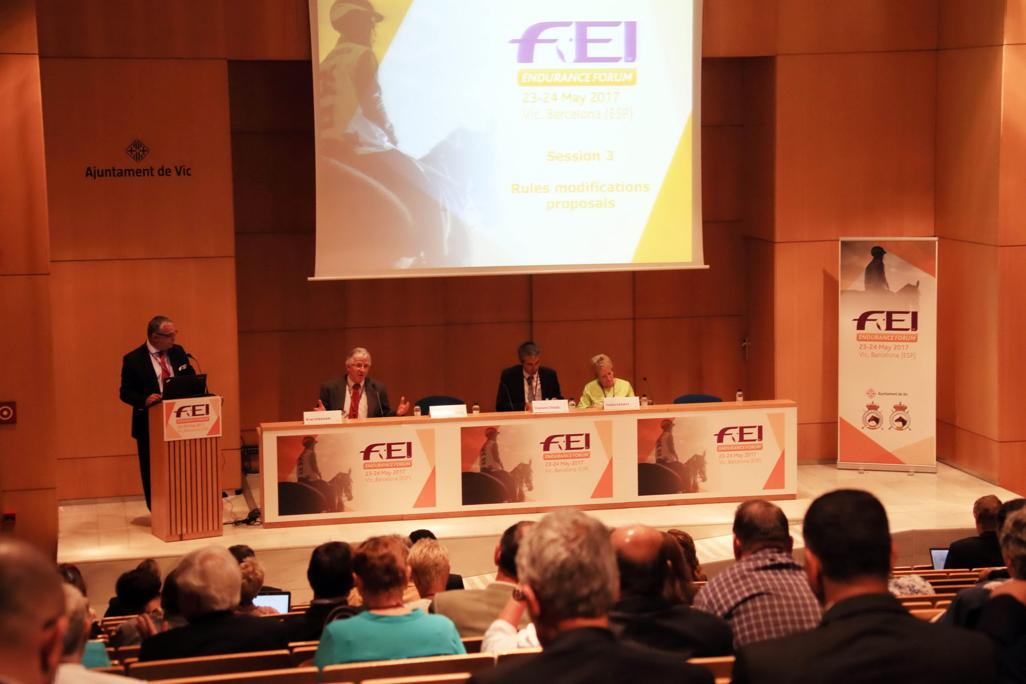 Endurance World FEI Endurance Forum 2017. The forum.