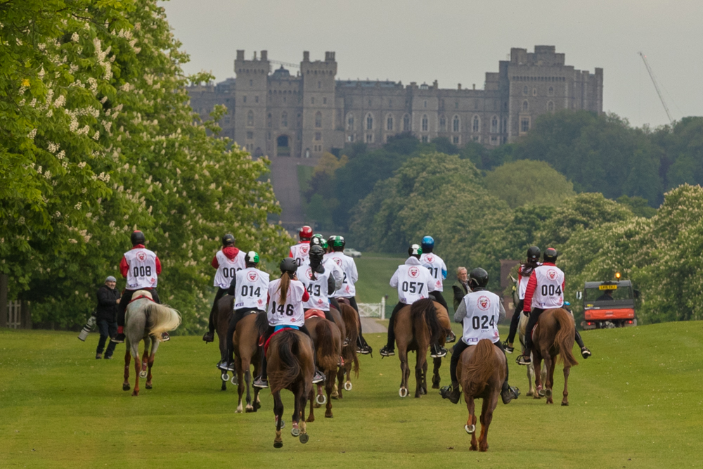 Endurance World Royal Windsor. The castle in the background.
