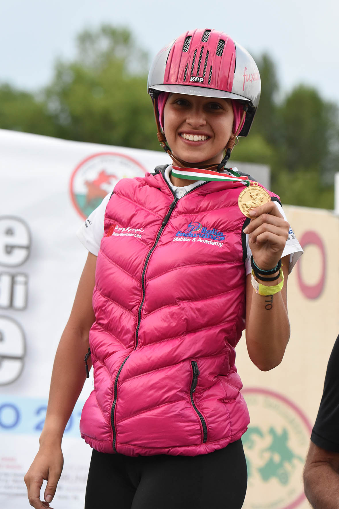 Endurance World Costanza Laliscia. . A happy champion.