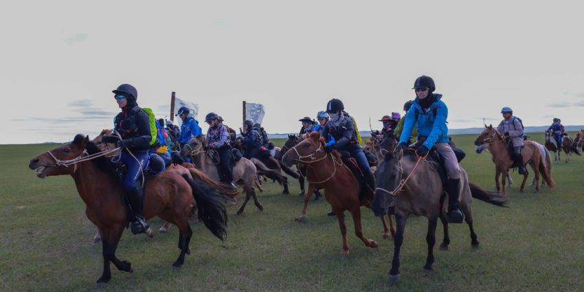 Endurance World Mongol Derby. The start.