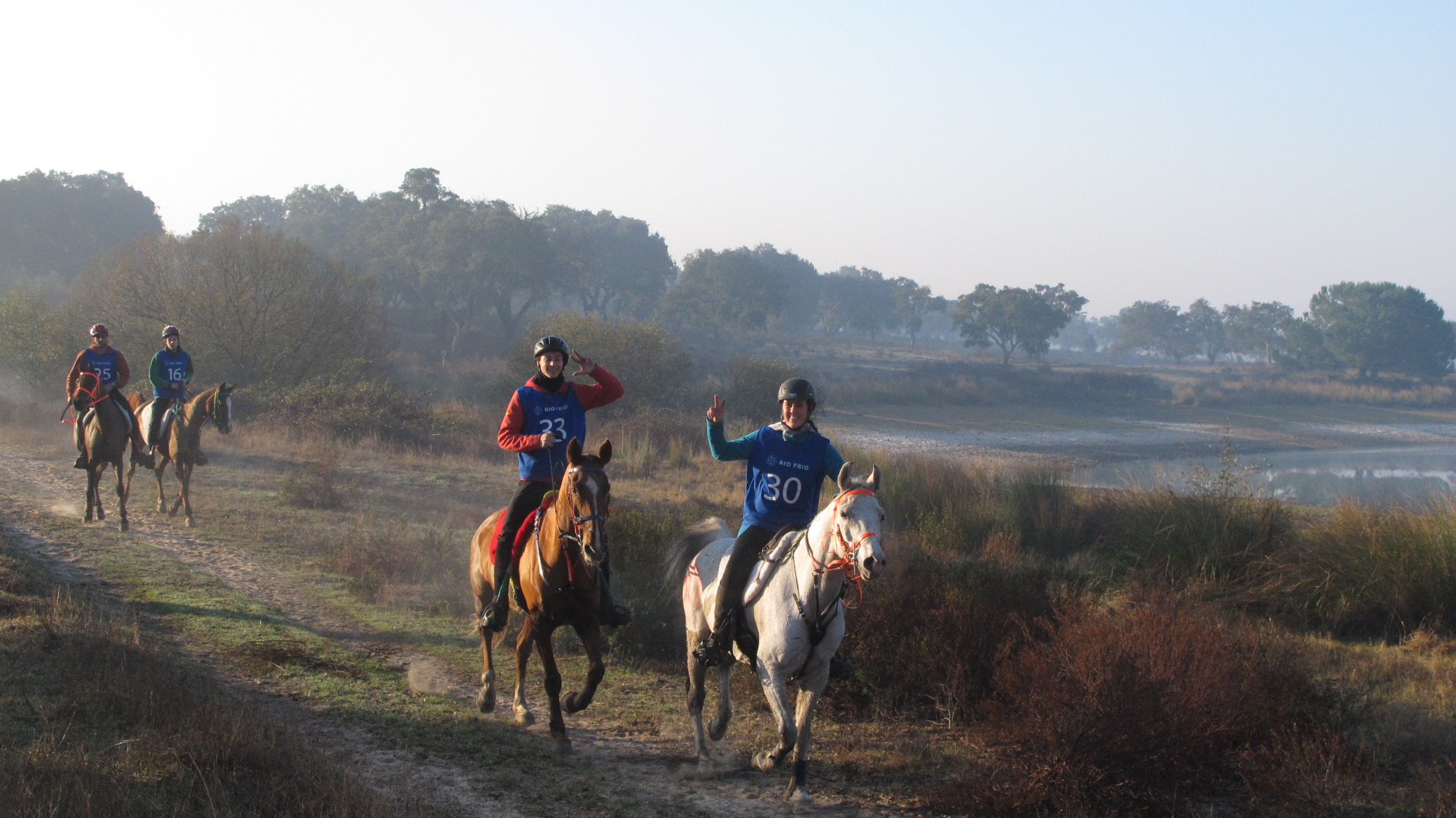 Endurance World Rio Frio. Two happy riders.