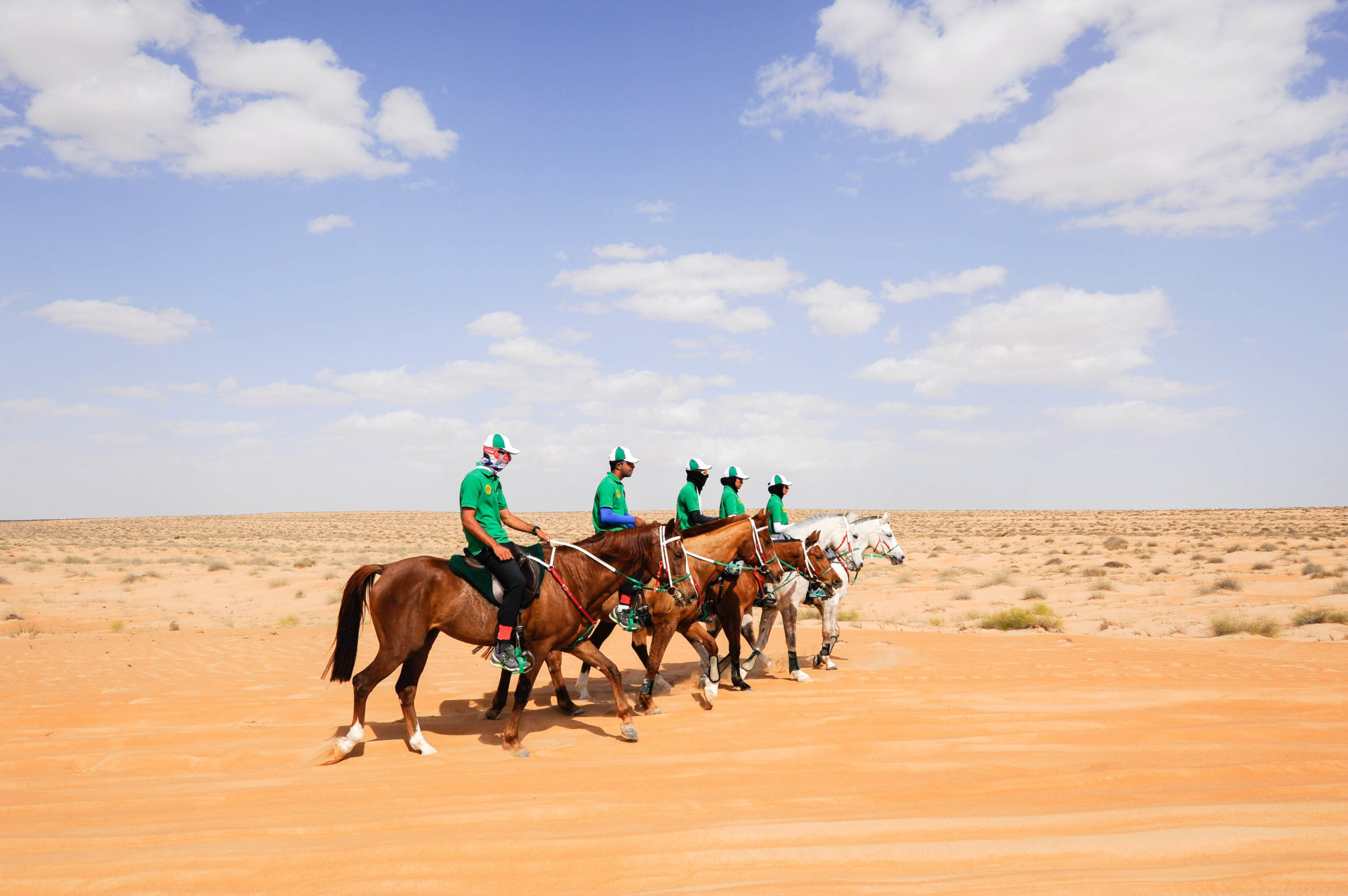 Endurance World Gallops of Morocco. Racing per team.